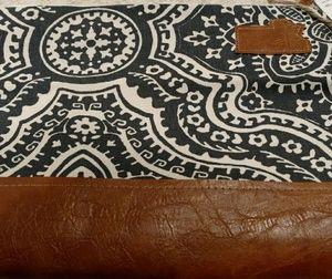 Handbags - Large Zippered Makeup Bag Blue and White